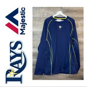 Tampa Bay Rays Majestic On-Field Pullover